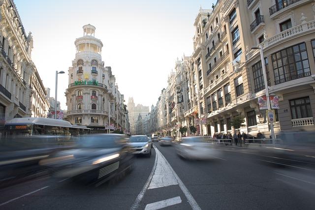 madrid gran via traffic - spain - ev charger incentives guide - wallbox