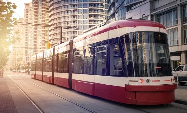 modern electrified public transport electrified tram