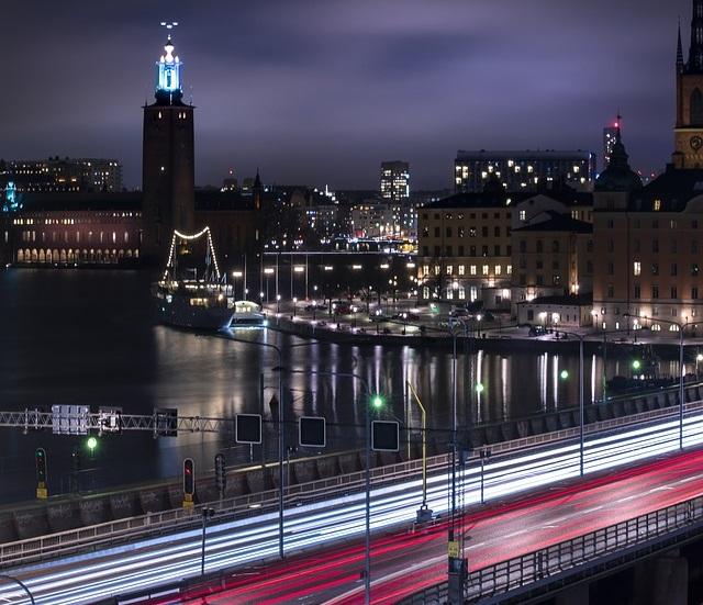 stockholm lights at night - sweden - ev charger incentives guide - wallbox.jpg
