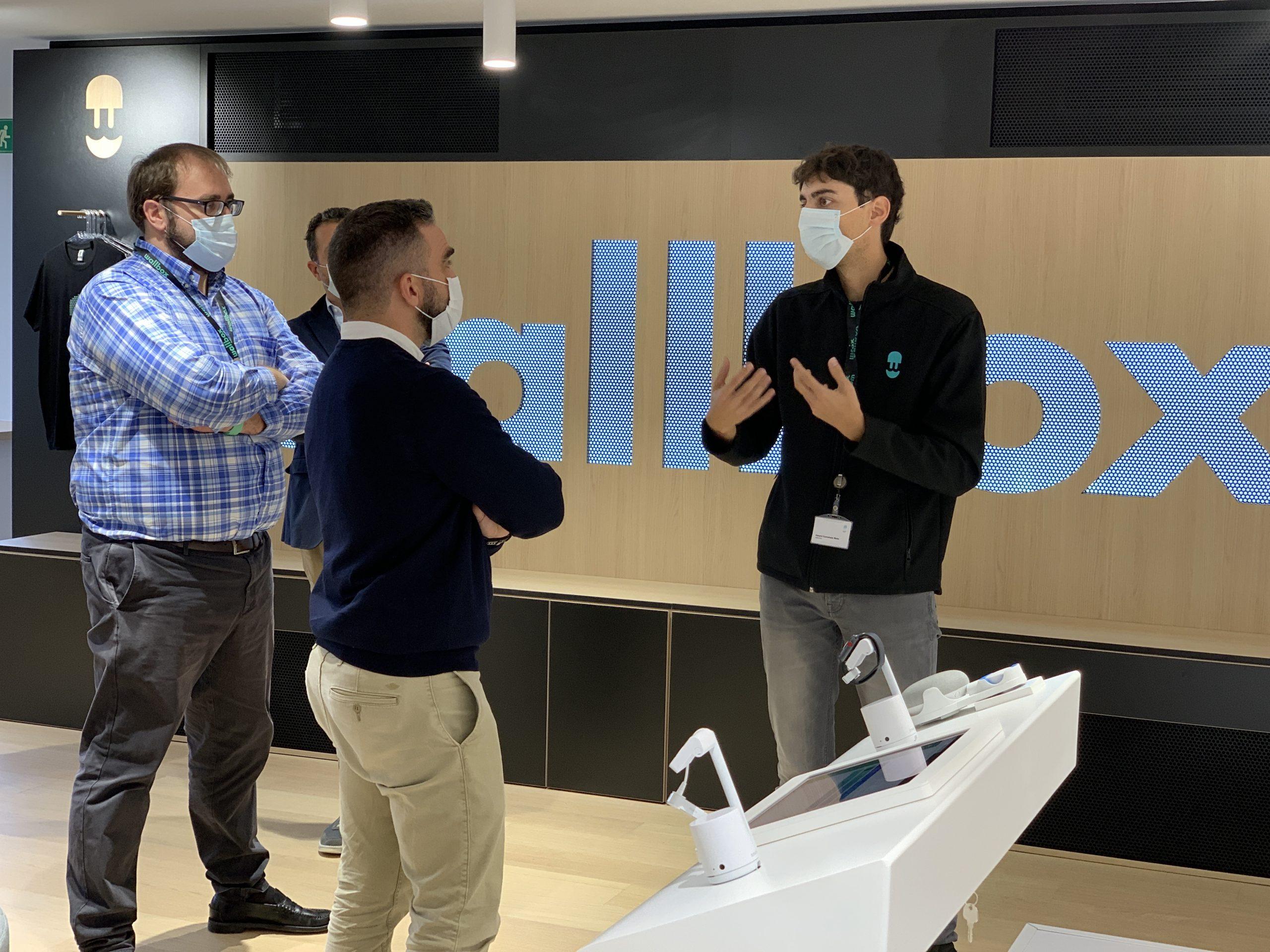 Wallbox receives the visit of Francisco Polo, High Commissioner for Spain's entrepreneurship and innovation program España Nación Emprendedora