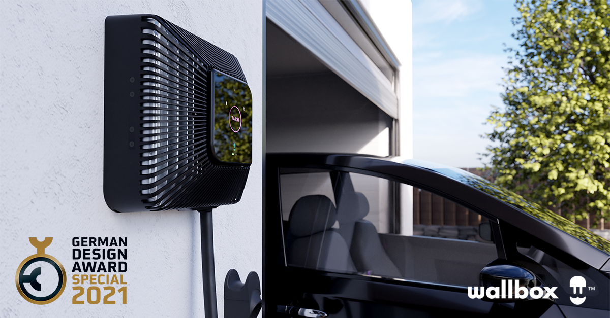 Wallbox Quasar honored with the German Design Award