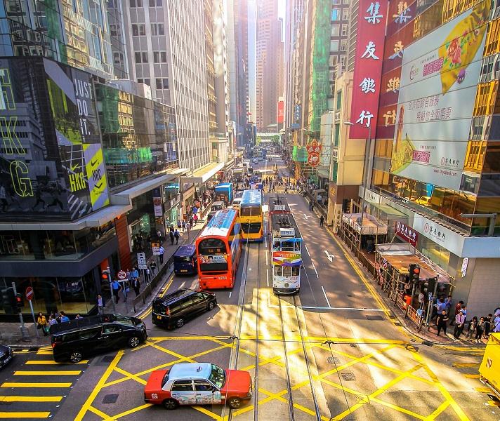 hong kong ev incentives street with cars